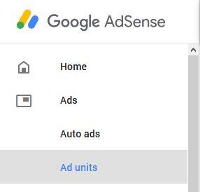 Google AdSense Menu